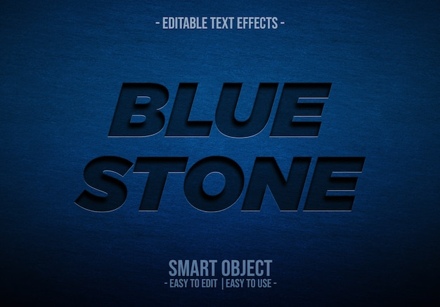 Blue stone text style