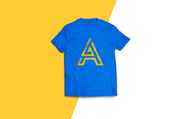 Blue t-shirt mockup design