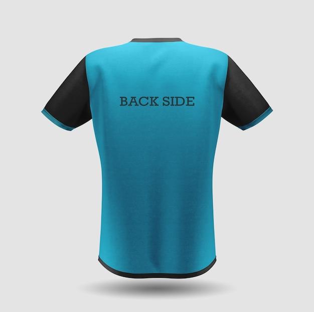 파란색 티셔츠 모형 디자인