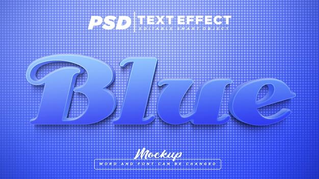 青いテキスト効果編集可能なテキストモックアップ