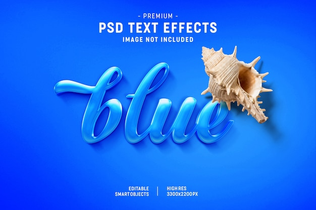 Blue text effect generator