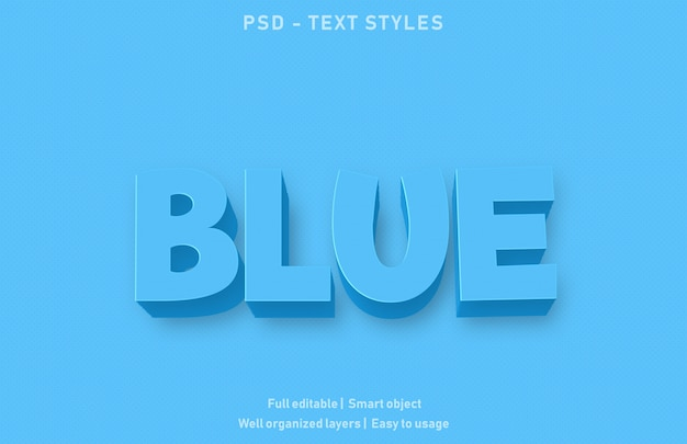 Эффект синего текста