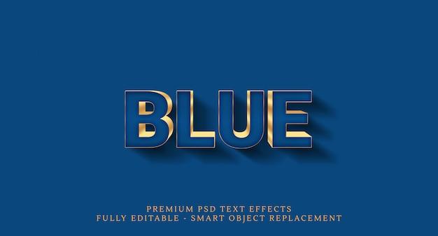 Blue text effect