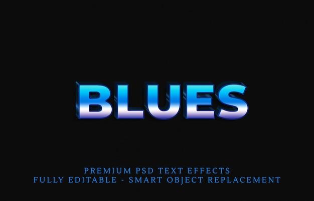 青いテキストスタイルの効果