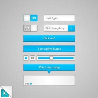 Blue ui kit psd material