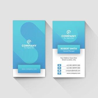 Blue ui ux business card template