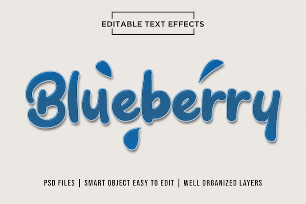 Blueberry - sweet tasty psd text effects