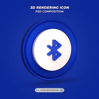 Bluetooth icon in 3d rendering