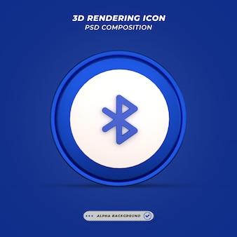 Значок bluetooth в 3d-рендеринге