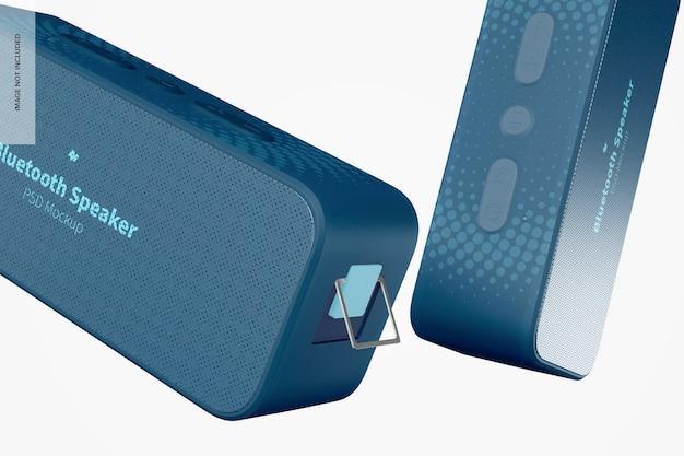 Bluetooth speakers mockup, close up