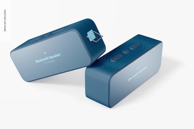 Bluetooth speakers mockup, floating