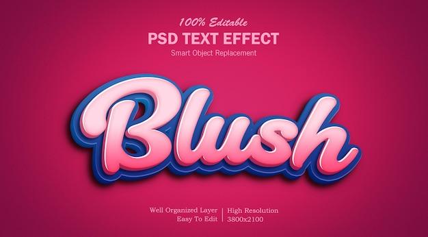 Румяна розового цвета psd текстовый эффект