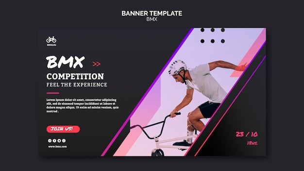 Bmx competition banner template design