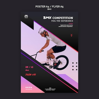 Bmx competition poster template style