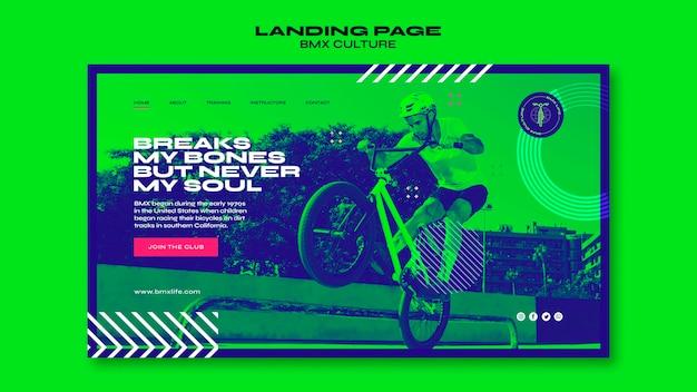 Bmx culture concept landing page template