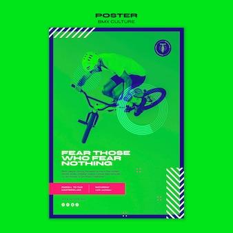 Modello di poster del concetto di cultura bmx