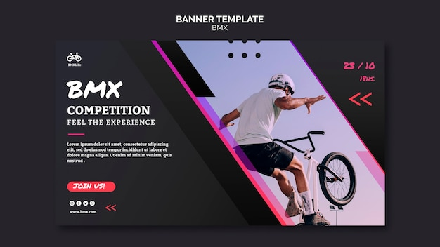 Bmx horizontal banner template style