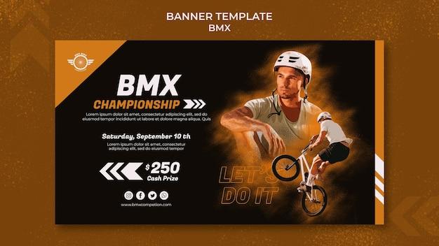 Bmx horizontal banner template