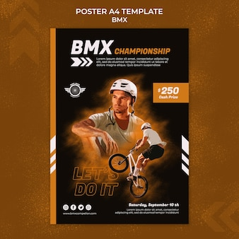 Bmx print template with photo