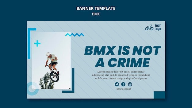 Bmx shop ad banner template