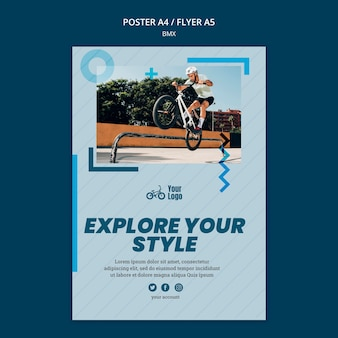 Bmx shop ad template poster