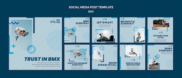 Bmx shop social media post template
