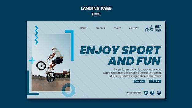 Bmx shop template landing page