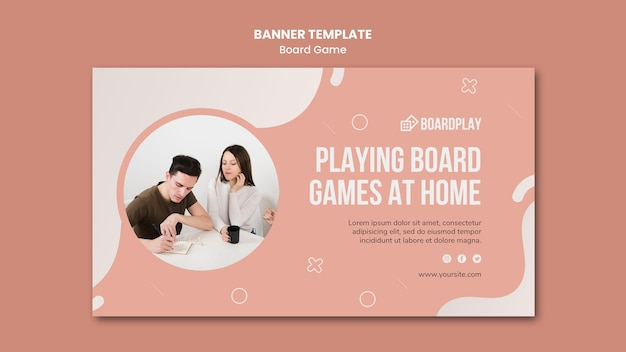 Board game concept banner template