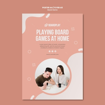 Board game concept flyer template