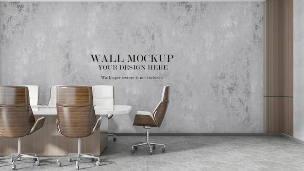 Board meeting room wall mockup