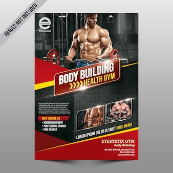 Body building flyer mockup