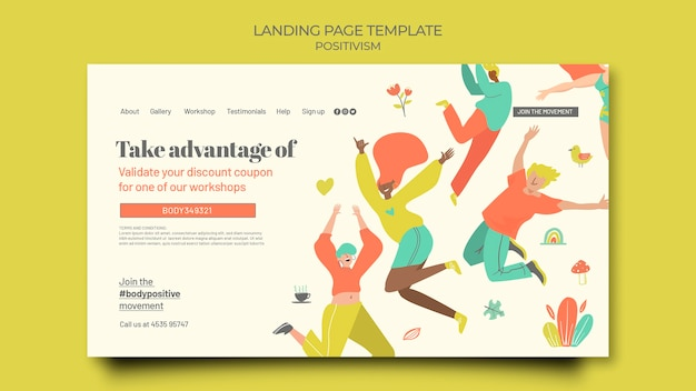 Body positive landing page template