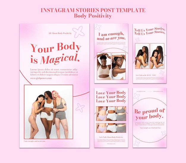 Body positive social media stories