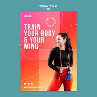 Шаблон плаката для тренировки тела