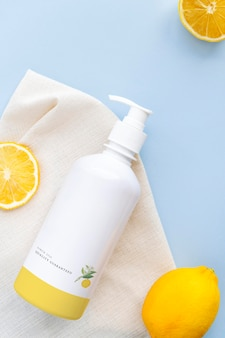 Дизайн макета бутылки для мытья тела
