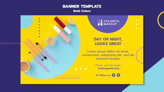 Bold colors concept banner template