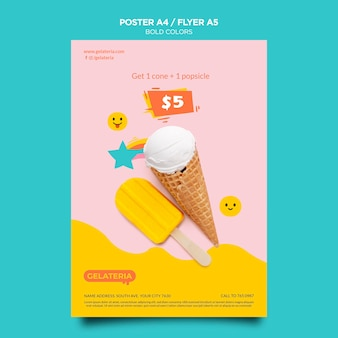 Bold colors concept poster template