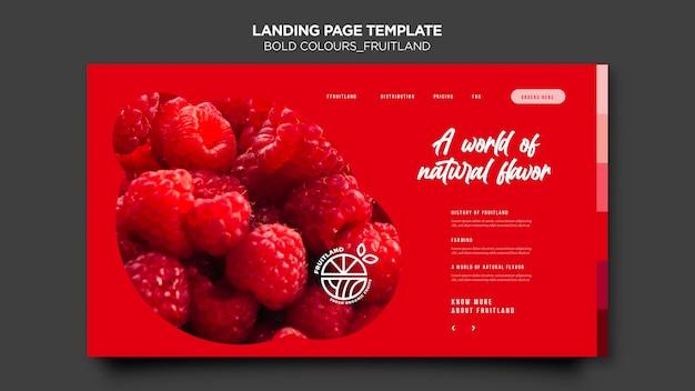 Bold colours fruitland landing page
