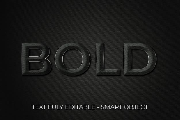 Bold font effect