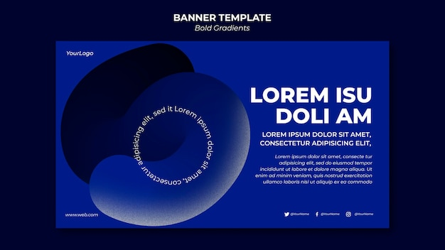 Bold gradients banner template