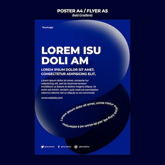 Bold gradients poster template