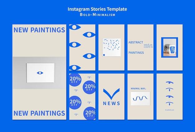 Смелые минималистичные истории в социальных сетях