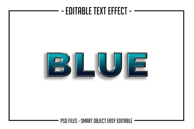 Bold modern blue text style  font effect