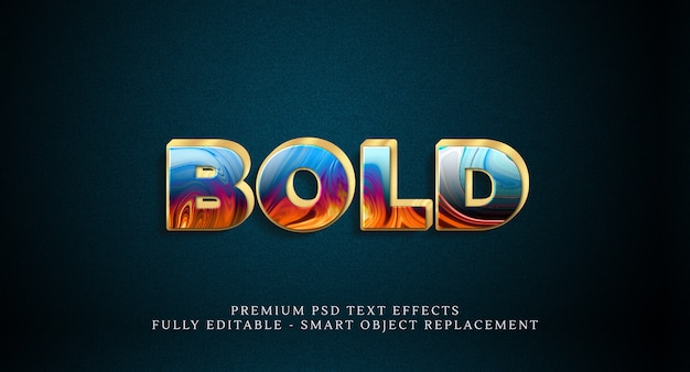 Bold text style effect psd. psd text effects