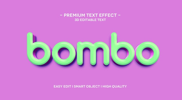 Bombo 3d text effect template