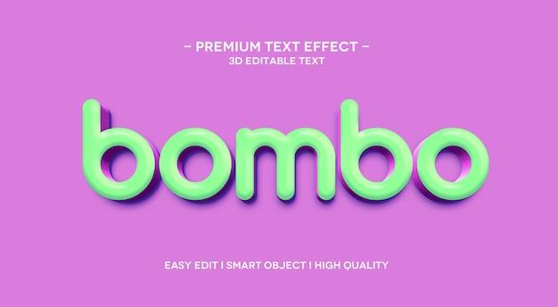 Bombo 3d 텍스트 효과 템플릿