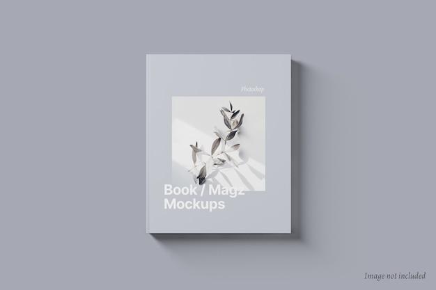 Мокап обложки книги и журнала