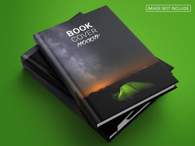 本と雑誌の表紙のモックアップ