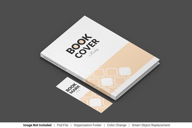 Обложка книги и макет закладки
