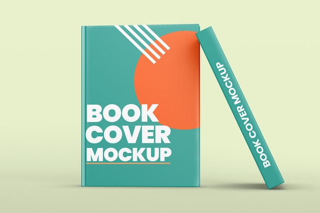 Book cover design mockup isolated
